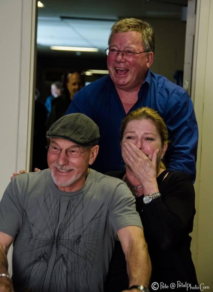 Patrick Stewart, Kate Mulgrew and William Shatner - the captains!  #Star Trek