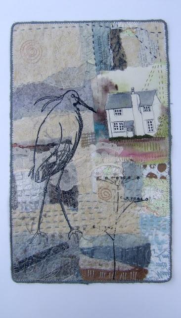 Clare Wasserman, stitched journal page