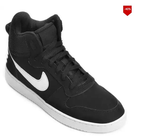 Tênis Couro Cano Alto Nike Recreation Mid Masculino