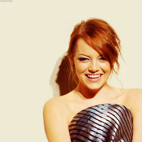 Emma Stone!Girls Crushes, Hair Colors, Famous Photos, Emma Stone, Beautiful, Girls Hairstyles, Celebrities Hairstyles, People, Emma Stones