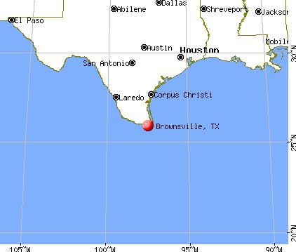 Brownsville, Texas map