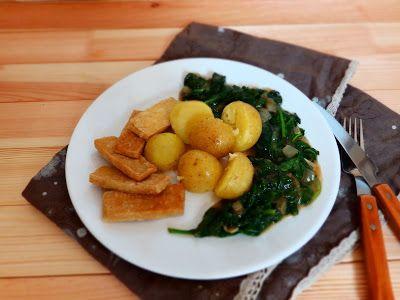 Veggie Fish: Listový špenát s brambory a tofu