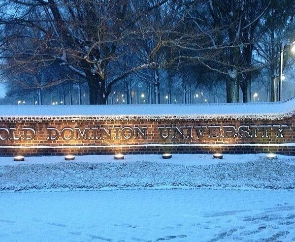Old Dominion University in a winter wonderland!