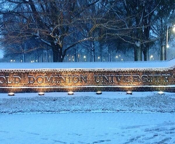 Old Dominion University in a winter wonderland!