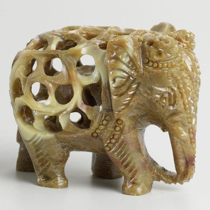 Soapstone Elephant   World Market