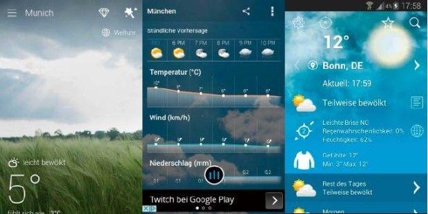 Wie wird das Wetter? Wem der Blick aus dem Fenster nicht zuverlässig genug ist, der erfährt es ganz genau mit einer Wetter-App.