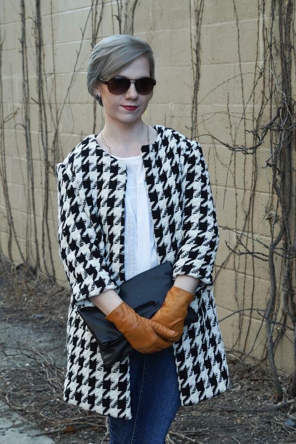 The Houndstooth coat, handmade wardrobe, free coat pattern