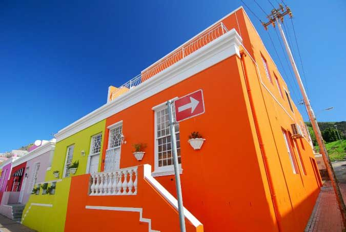 Bo Kaap, Cape Town and it's colourful houses.