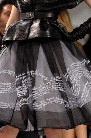 """""""DIOR HAUTE COUTURE SPRING 2012"""" I love the contrast between hard and soft with the leather and tulle"""