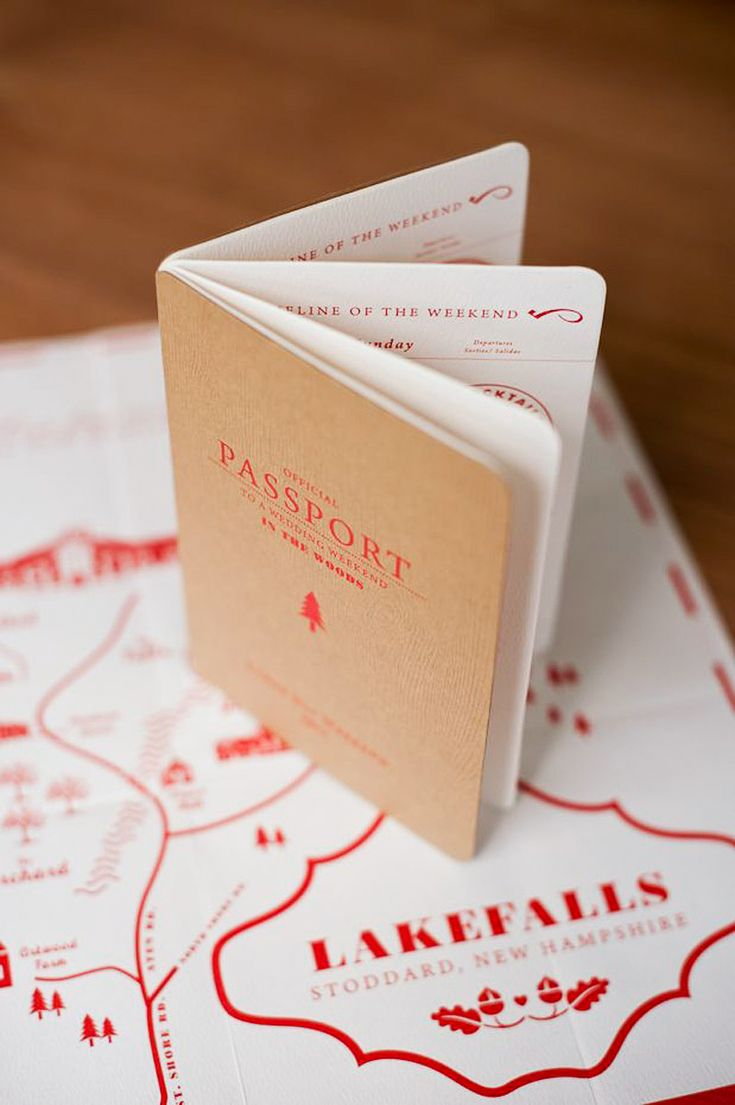 Passport/Travel wedding invitations have become really popular...but this one takes it to a whole new level...and the map is really cool!