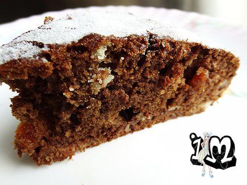 Постная шоколадно-медовая коврижка (кекс).