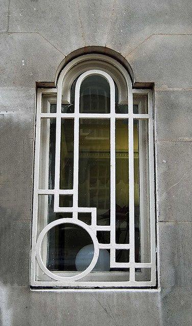 An art deco twist on a palladian window!