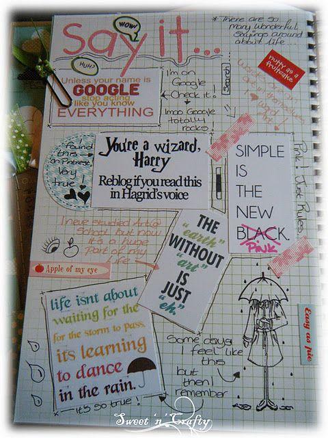 Smash Art Journaling - Say it.. Quotes