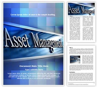 Asset Management: Asset Management Editable Word Template #00628