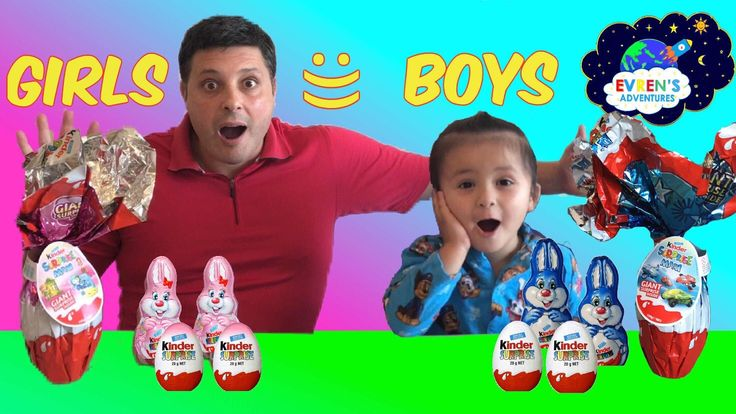 6 NEW GIANT KINDER SURPRISE EGGS Girls vs Boys Challenge Surprise Toys Kid Fun Game. Join Evren and her Dad from Evren Adventures opening New 6 Giant Jumbo Pink Kinder Chocolate Surprise Eggs For Girls and Blue Kinder Chocolate Eggs Surprise for Boys filled with a lots of Toy surprise inside. Some of them are Disney Barbies Toy Story, Sprinty, toy cars and much more! These are super cool kids toys! Great kids video for children who loves opening Giant Kinder Surprise Eggs and Toy Surprise.