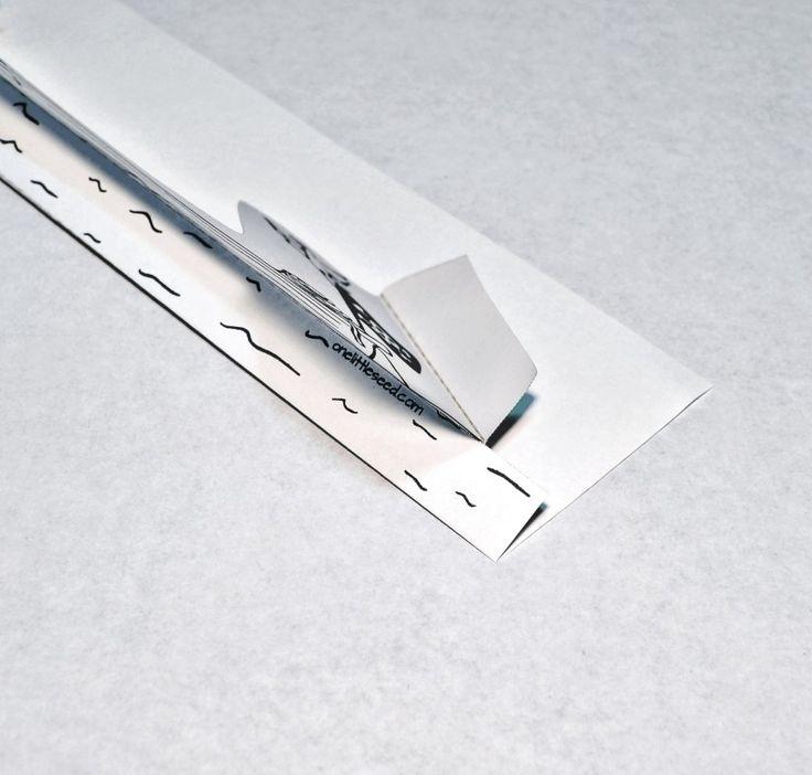 Printable Paper City Pirate Craft - Longboat fold 2