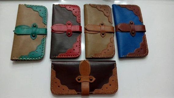 Woman's wallet christmas gift Leather wallet by craftartculture
