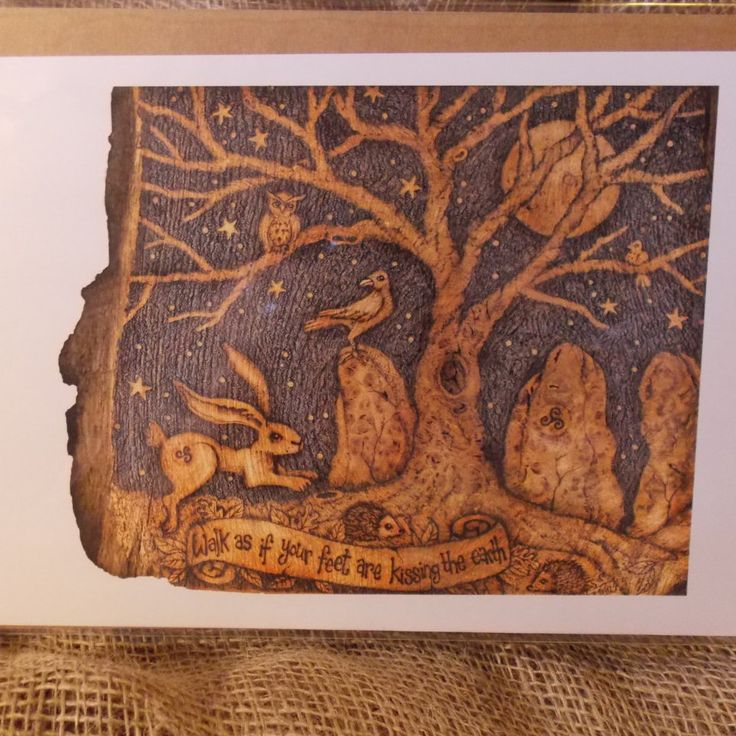 Standing Stones and Hare Print from Original Artwork by salixpyrography on Etsy
