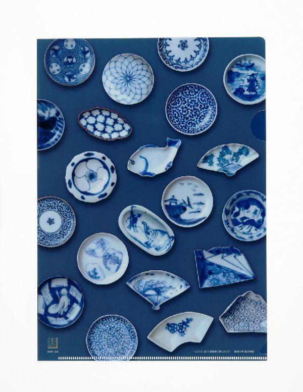 てっさい堂 コレクション A4クリアファイル 染付豆皿 | 日本美術品 京都 便利堂 【老舗モール】