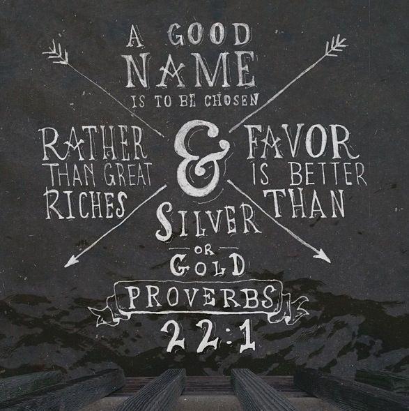 Proverbs 22:1 Bible Verse