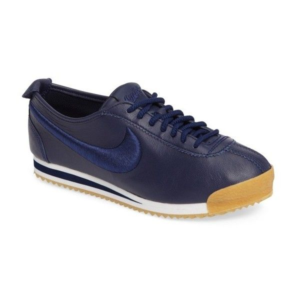 Women's Nike Cortez 72 Si Sneaker ($130) ❤ liked on Polyvore featuring shoes, sneakers, nike, leather sneakers, nike sneakers, genuine leather shoes and nike shoes