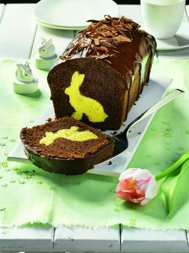Osterhasenkuchen mit Kakaoglasur – Bild 1   – retete