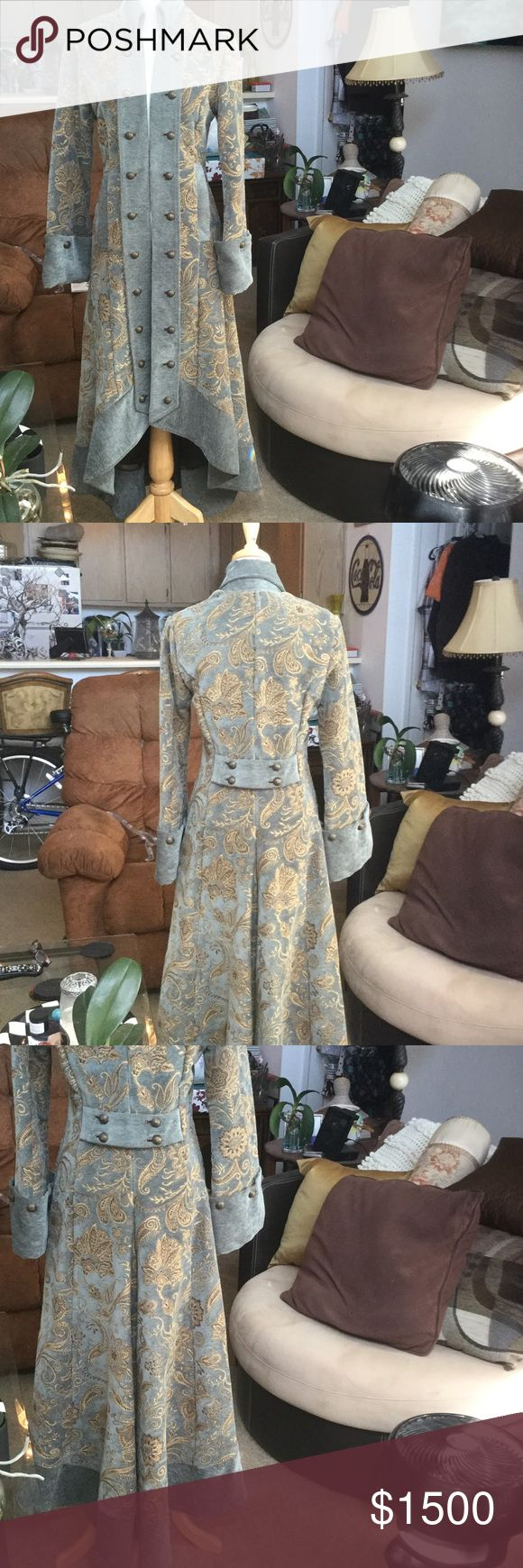 CUTOM MADE STEAMPUNK JACKET Absolutely exquisite custom-made steam punk full length coat. Fully lined. This is Stunning on. All low ball offers will not be considered. Jackets & Coats