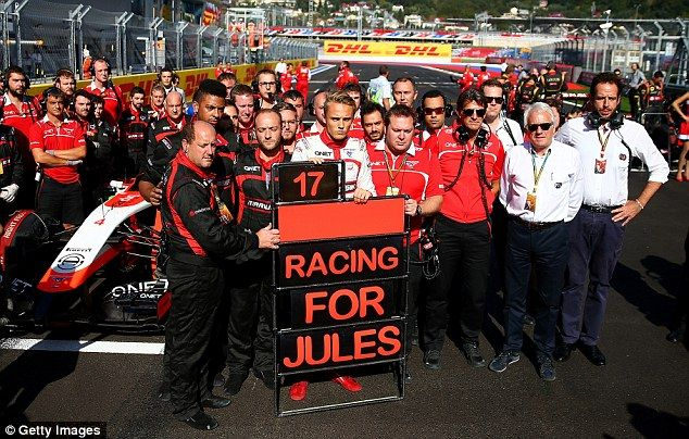 The Marussia team pay tribute to Bianchi at Russian Grand Prix, the week after his accident