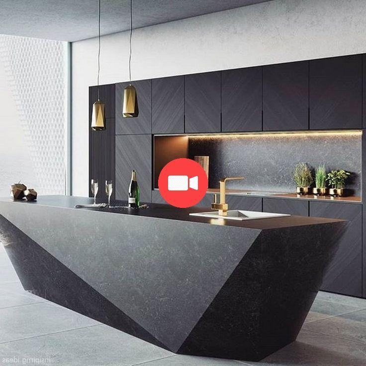 40 belles idées de design de cuisine moderne #ideesdecuisine ...