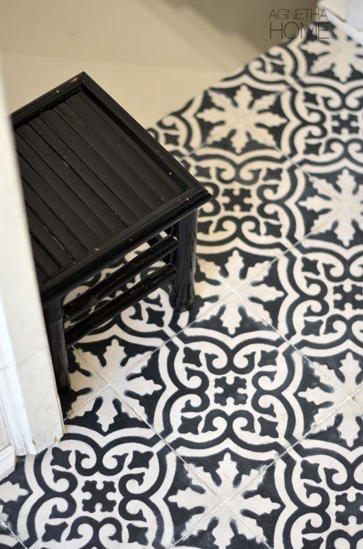 Maroccan floor in my hallway home for Bathroom designs 8x7