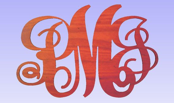 Hey, I found this really awesome Etsy listing at https://www.etsy.com/listing/235859447/vine-monogram-door-hangers