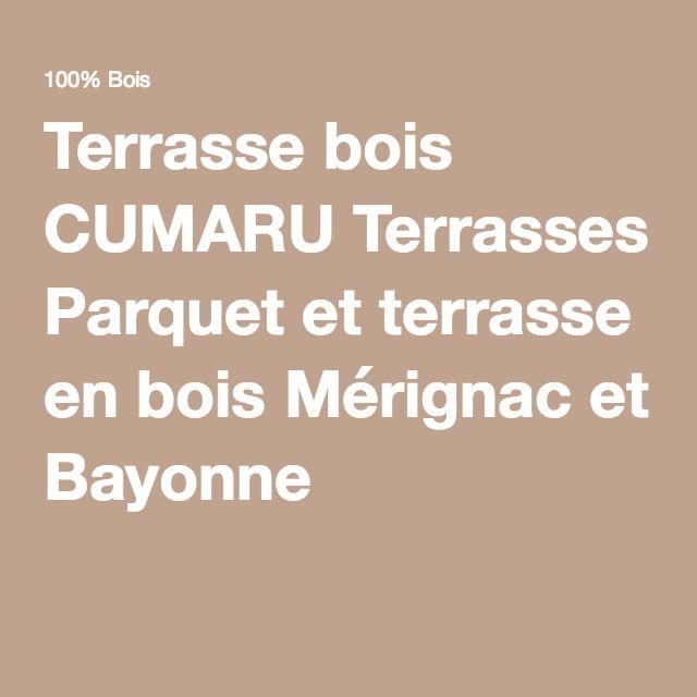 Terrasse bois CUMARU Terrasses Parquet et terrasse en bois Mérignac et Bayonne