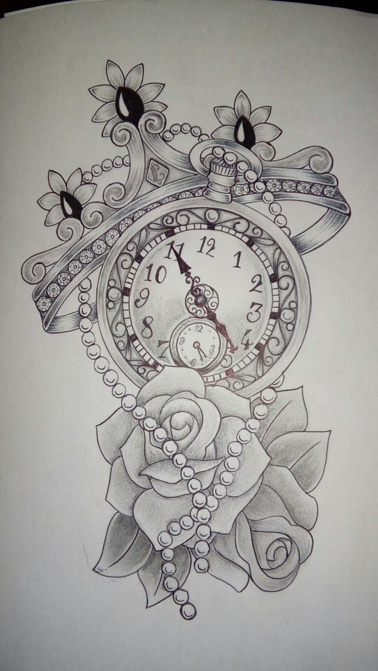 A clock with a crown a clock with a rose? – Tattoos – #one #crown #with #rose #tattoos #hour