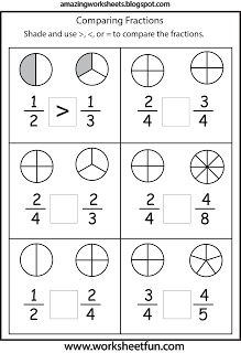 Printables Comparing Fractions Worksheets 1000 ideas about comparing fractions on pinterest content filed under the fraction category free printable worksheets mais