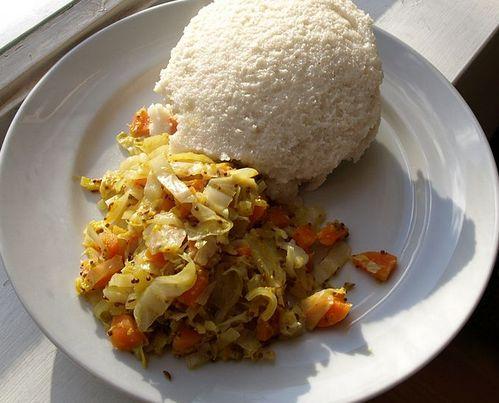 Comidas típicas da Africa.
