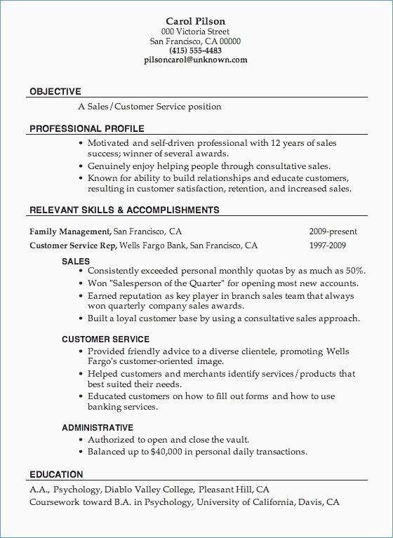 76 Best Of Photography Of Examples Of Good Resumes For Sales Associates Chec Customer Service Resume Good Objective For Resume Customer Service Resume Examples