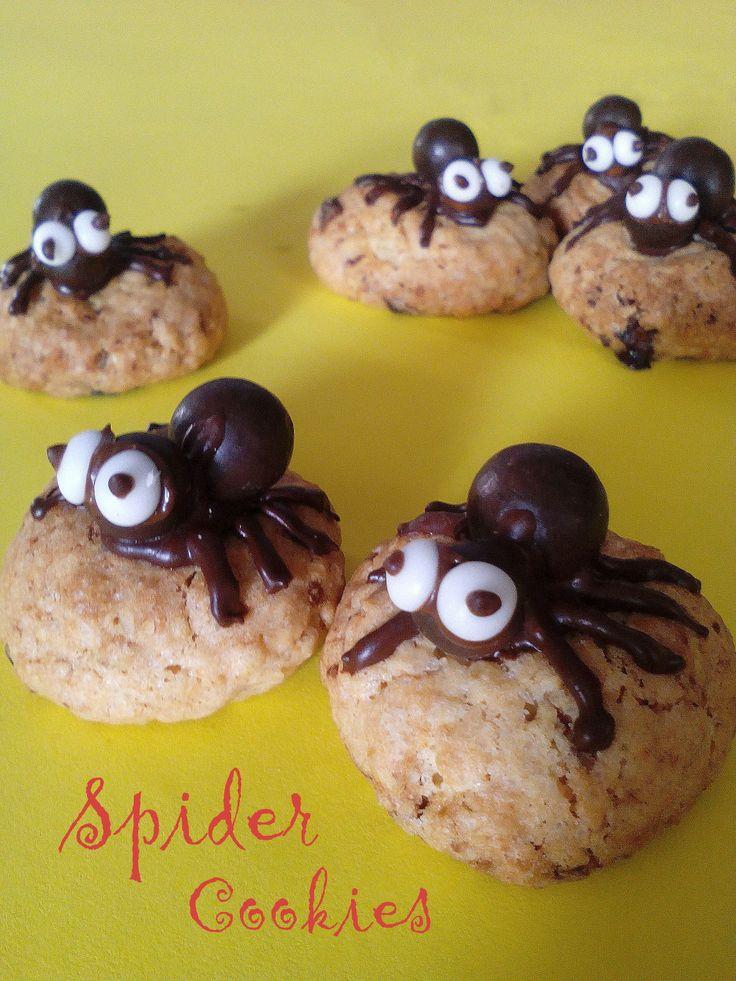 Ciasteczka Pająki – kokosowe z czekoladą PRZEPIS