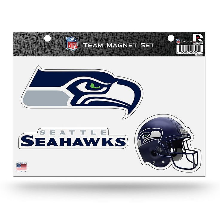 Seattle Seahawks Team Magnet Set, Multicolor