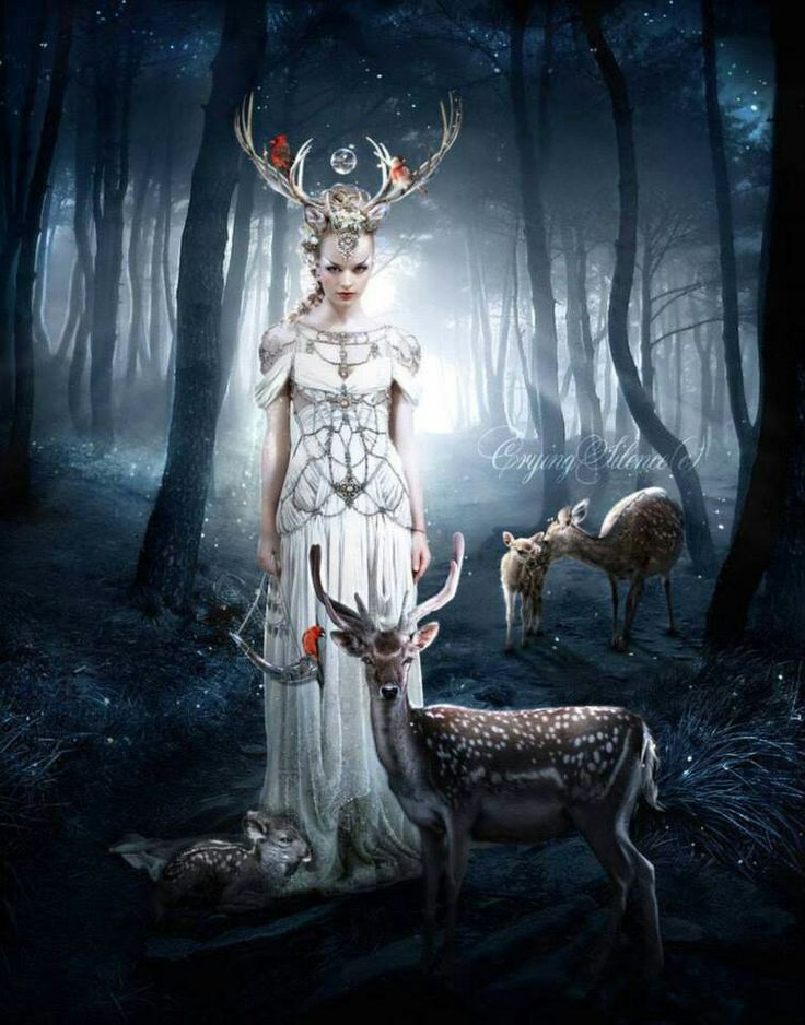 Goddess Diana The Huntress. Mate To The White Stag