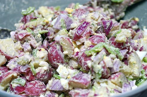 Roseanne Cash's Potato Salad. I use this as my basic recipe and then improvise. Add Greek yogurt for part of the mayo.