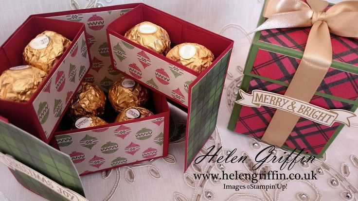 12th Day Of Christmas 2016 - Ferrero Rocher Stacked Gift Box Tutorial