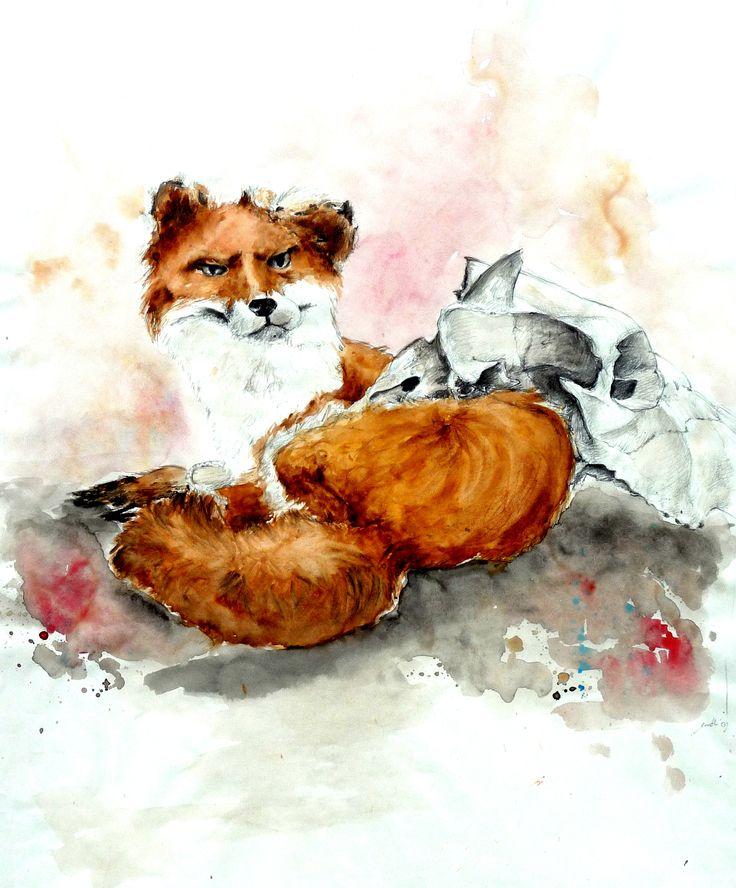 Helena Traut, Art, Illustration, Fuchs