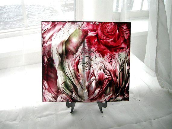 Decorative Glass Art painted plexiglass panel by StudioSabine