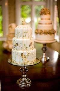 Bird Themed Wedding Ideas - beautifully painted birdcage cake