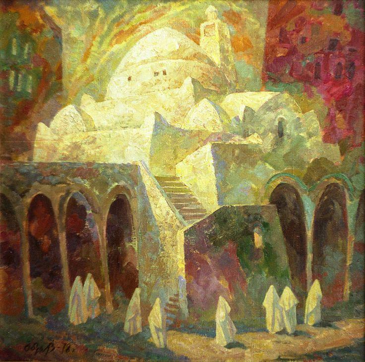 """Обух В.А. """"Алжир"""" 1976 х.м. 80х80"""