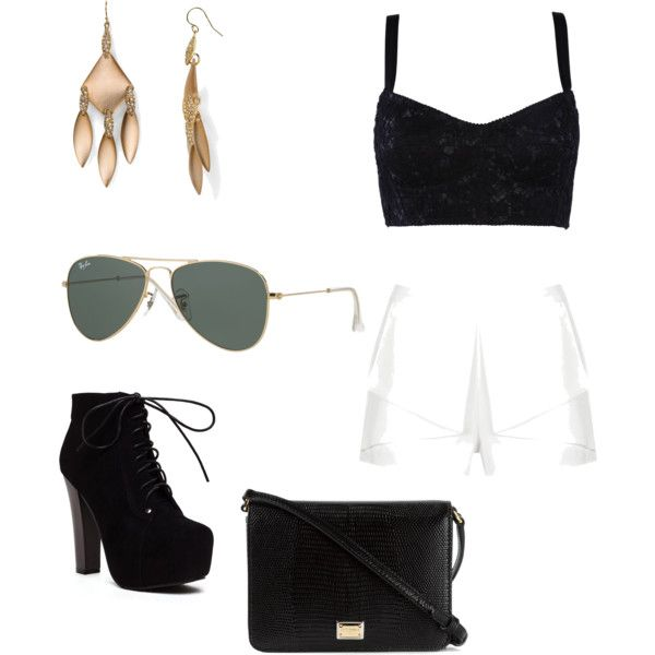 Black and White by gracerankcom on Polyvore featuring polyvore fashion style Dolce&Gabbana Rare London Alexis Bittar