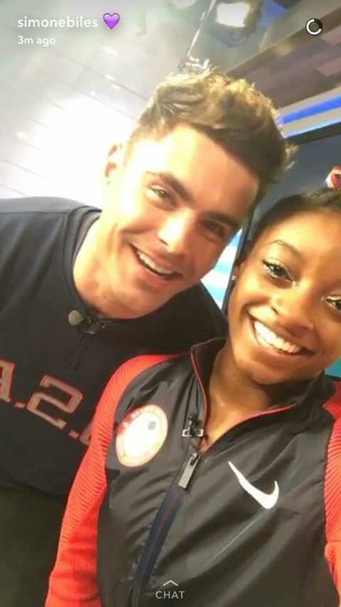 Zac and Simone RIO 2016  when i saw aly and simon talking on a channel they were so happy they meet Zac  i just love simon and aly