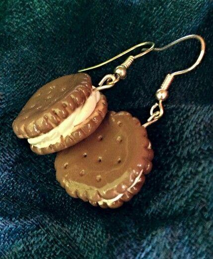Cookies / Ciastka #errings #handmade #clay #kolczyki #fimo