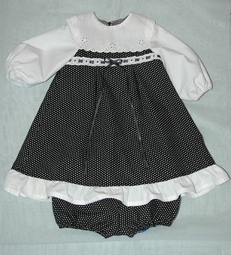 Baby girl dress with match elasticated panties.
