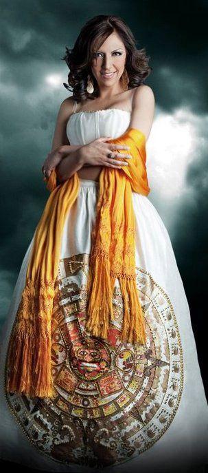 Dress mexican aztec